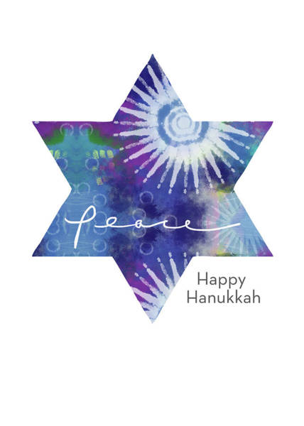 Mixed Media - Magical Peaceful Hanukkah- Art By Linda Woods by Linda Woods
