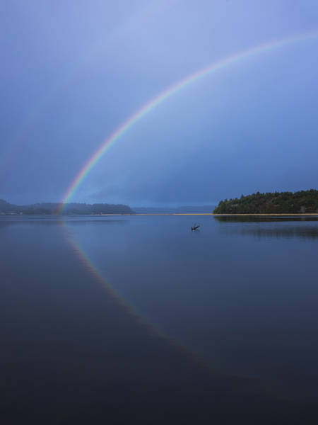 Photograph - Magical Rainbow Reflection by Loree Johnson