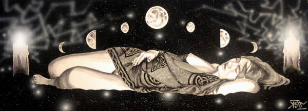 Wiccan Painting - Magical Slumber by Kevin Baker