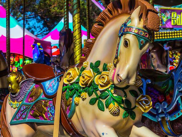 Carousel Horse Photograph - Magical Wild Carrousel Horse by Garry Gay