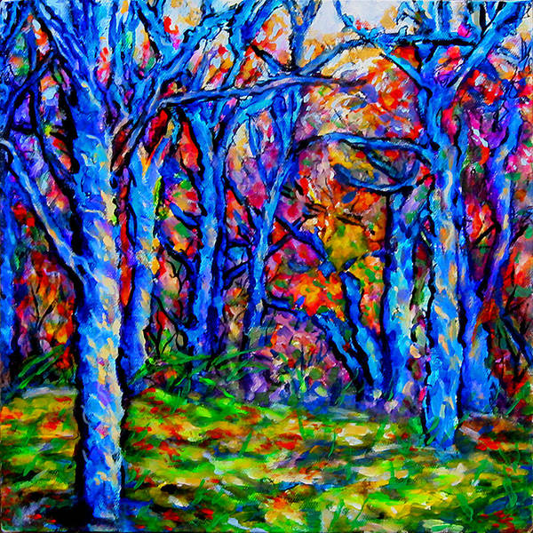 Wall Art - Painting - Magical Woodlands 1 by Laura Heggestad