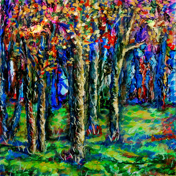 Wall Art - Painting - Magical Woodlands 2 by Laura Heggestad