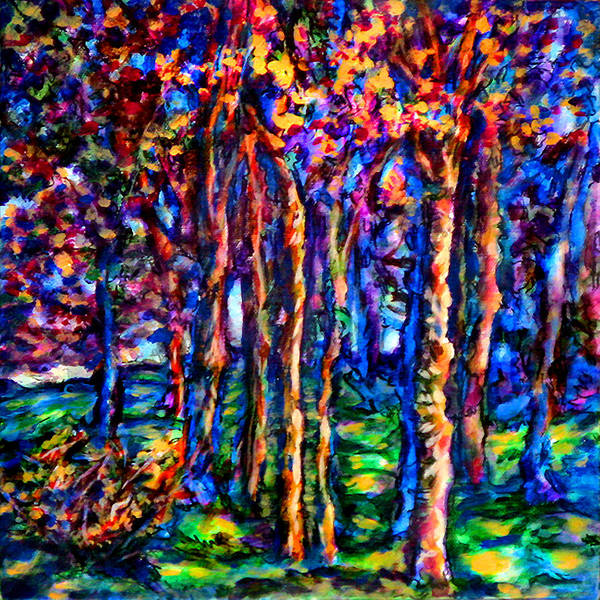 Wall Art - Painting - Magical Woodlands 3 by Laura Heggestad