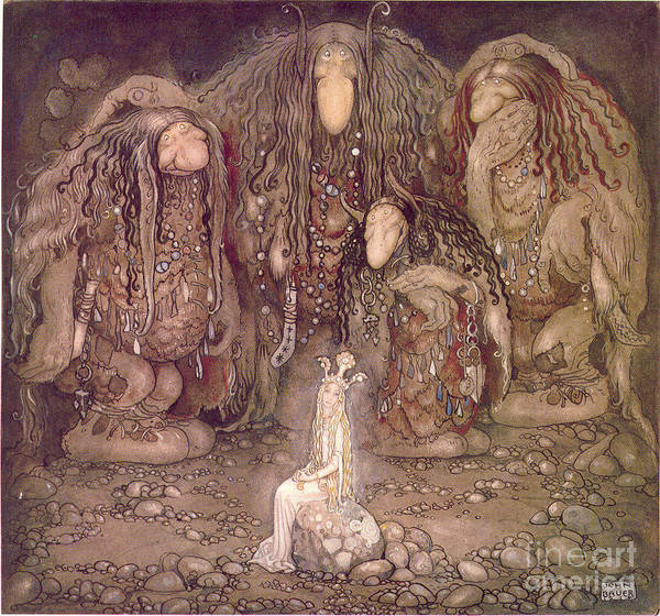 Painting - Magical World by John Bauer