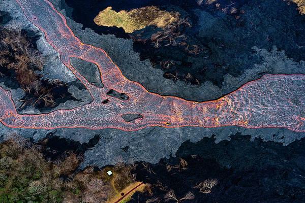 Magma Wall Art - Photograph - Magma River by Christopher Johnson