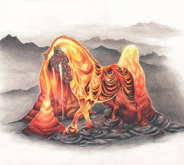 Lava Drawing - Magmare by Alyssa Mehlhorn