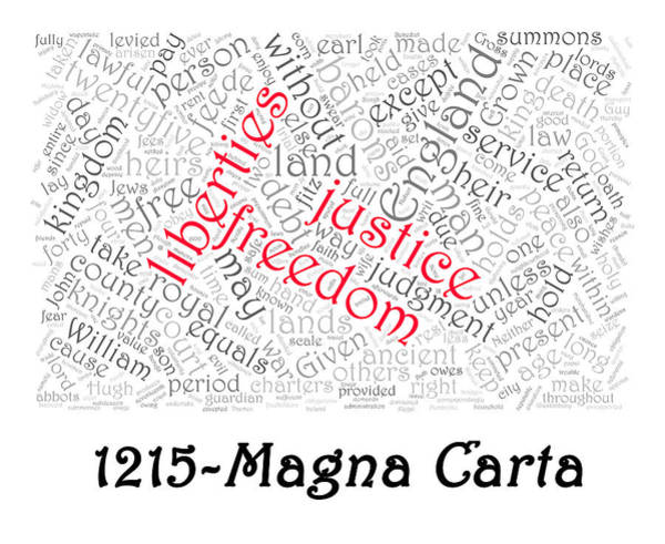 Photograph - Magna Carta Word Cloud 1 by Richard Reeve