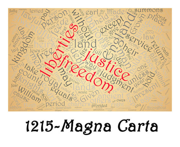Photograph - Magna Carta Word Cloud 2 by Richard Reeve