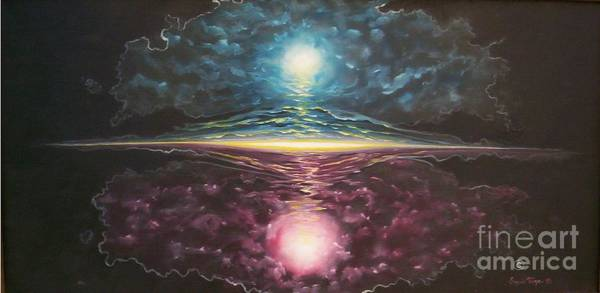 Painting - Blaa Kattproduksjoner                      Electro Magnetic Energy by Sigrid Tune