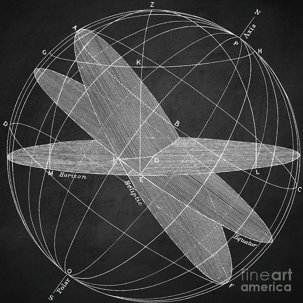 Digital Art - Magnetic Fields Chalkboard by Edward Fielding