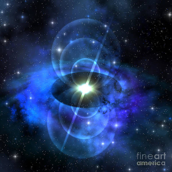 Endless Painting - Magnetic Pulse Star by Corey Ford