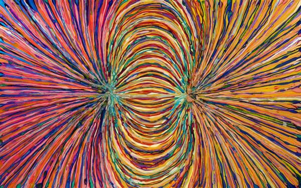 Wall Art - Painting - Magnetic Strings by Patrick OLeary