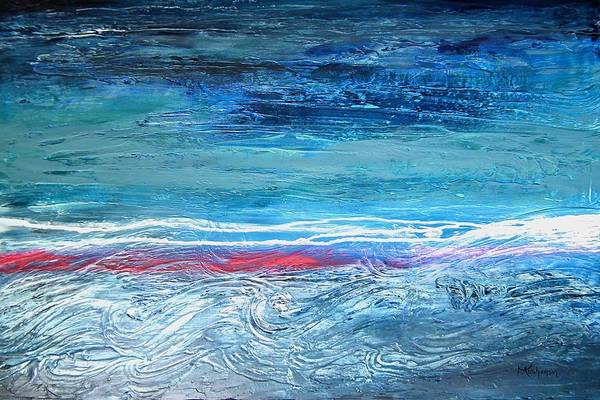 Painting - Magnificent Morning Abstract Seascape by Kristen Abrahamson