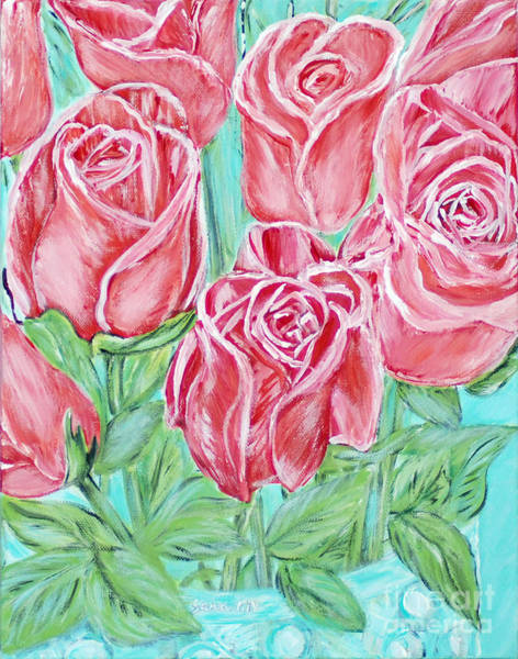 Painting - Magnificent Roses. Inspirations Collection 2015 by Oksana Semenchenko
