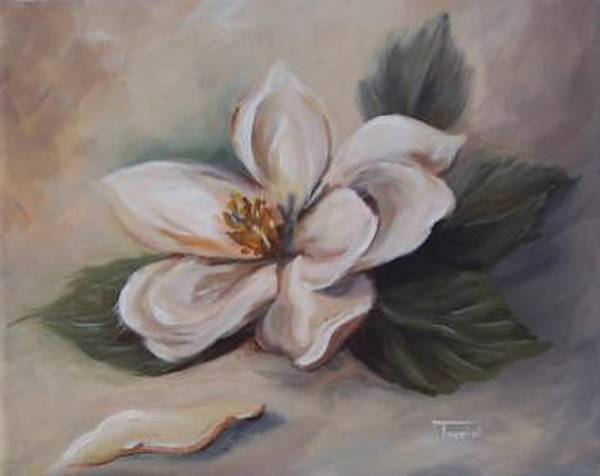 Flower Wall Art - Painting - Magnolia - 2007 -sold by Torrie Smiley
