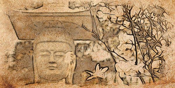 Digital Art - Magnolia Buddha by Cameron Wood