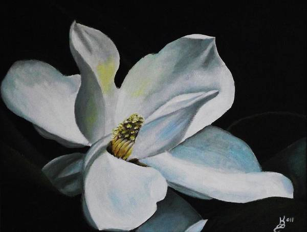 Wall Art - Painting - Magnolia Flower by Kim Selig