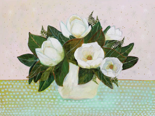 Wall Art - Painting - Magnolia Flowers by Blenda Studio