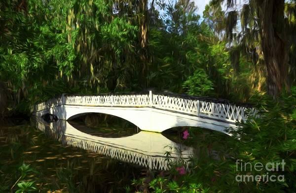 Photograph - Magnolia Gardens Bridge Reflections by Mel Steinhauer