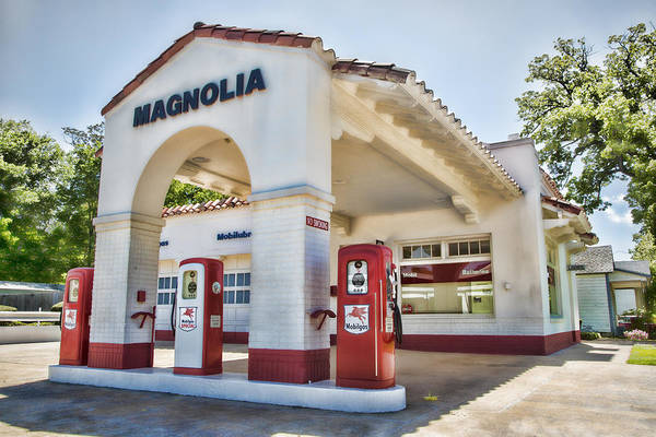 High School Photograph - Magnolia Gas - Little Rock by Stephen Stookey