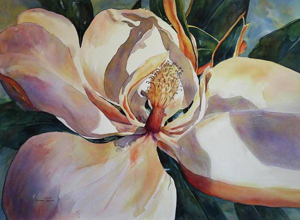 Southern Charm Painting - Magnolia, Golden Glow by Roxanne Tobaison