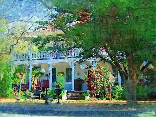 Photograph - Magnolia Inn by Donna Bentley