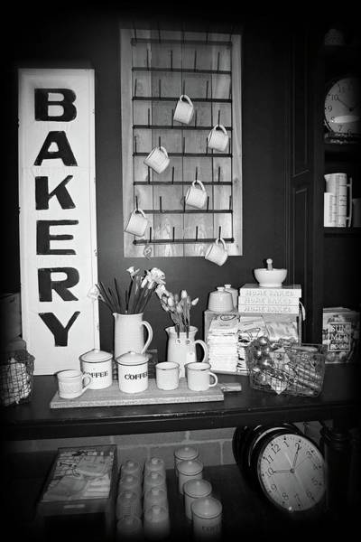 Photograph - Magnolia Market Bakery Display In Black And White by Lynn Bauer