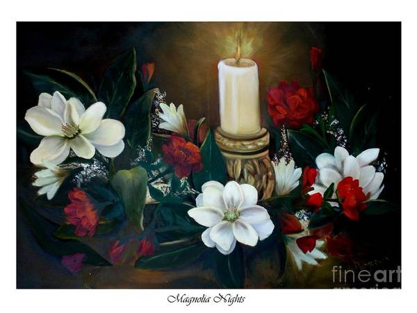 Wall Art - Painting - Magnolia Nights by Linda Mungerson