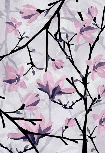 Wall Art - Digital Art - Magnolia Pattern by Vess DSign