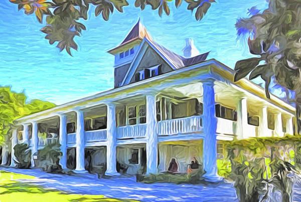 Mansion Mixed Media - Magnolia Plantation House by Dennis Cox Photo Explorer