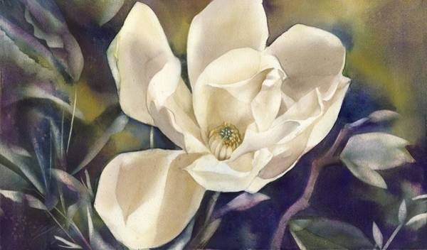 Painting - Magnolia With Bamboo by Alfred Ng