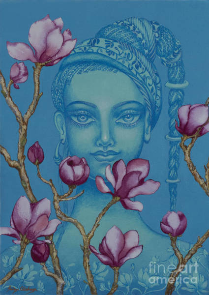 Wall Art - Painting - Magnolia by Yuliya Glavnaya