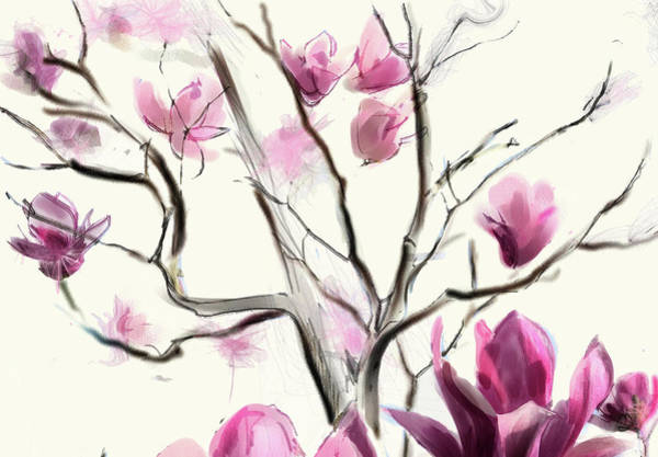 Digital Art - Magnolias In Bloom by Gina Harrison
