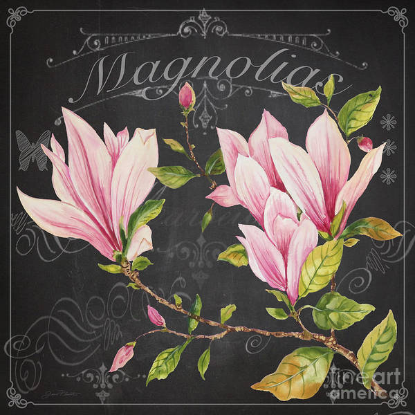 Wall Art - Painting - Magnolias-jp3891 by Jean Plout