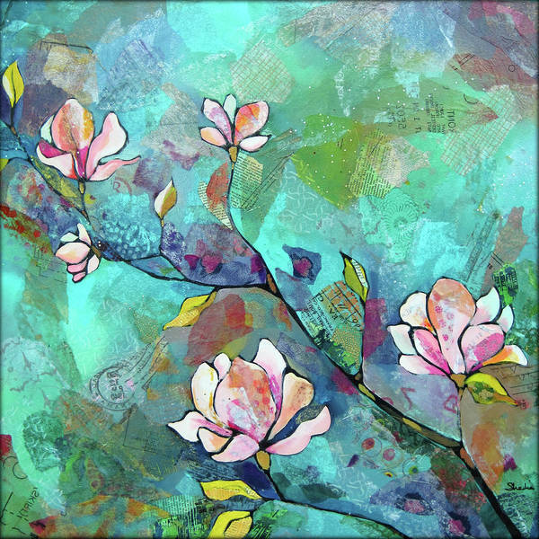 Wall Art - Painting - Magnolias by Shadia Derbyshire