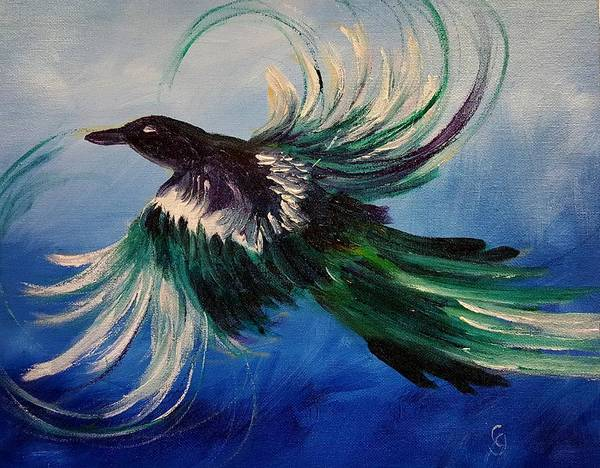 Painting - Magpie On East Main    83 by Cheryl Nancy Ann Gordon