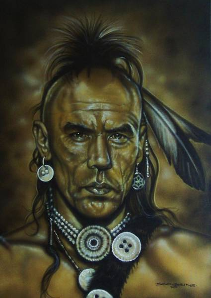 Wall Art - Painting - Magua by Timothy Scoggins
