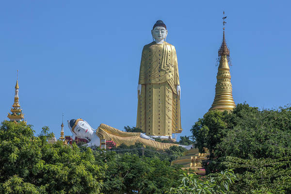 Giant Buddha Photograph - Maha Bodhi Tahtaung  - Myanmar by Joana Kruse