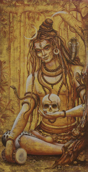 Wall Art - Painting - Mahadev. Shiva by Vrindavan Das