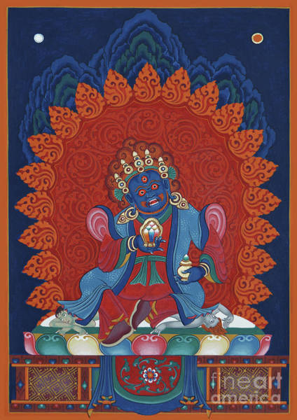 Wall Art - Painting - Mahakala Shanglon Dorje Dudul by Sergey Noskov