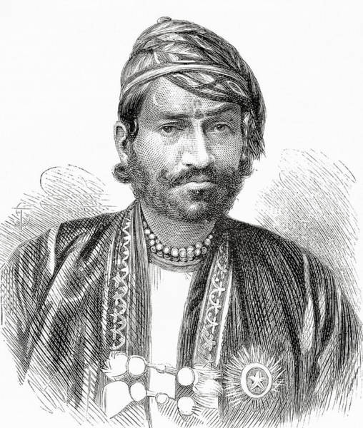 Singh Drawing - Maharaja Sawai Ram Singh II, Maharaja by Vintage Design Pics