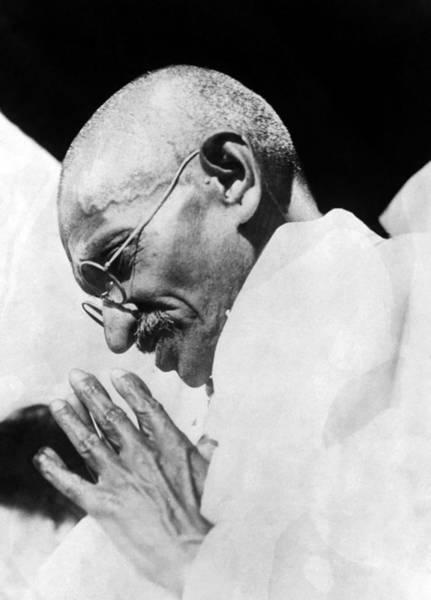 Wall Art - Photograph - Mahatma Gandhi Following His Release by Everett