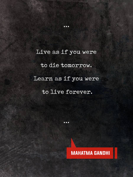 Reading Mixed Media - Mahatma Gandhi Quotes - Literary Quotes - Book Lover Gifts - Typewriter Quotes by Studio Grafiikka