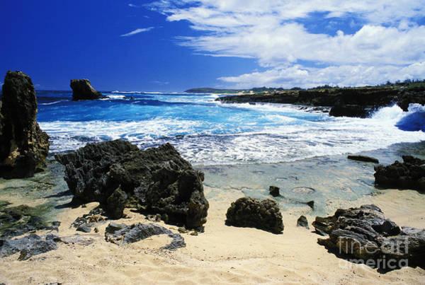 Mahaulepu Beach Photograph - Mahaulepu Koloa Beach by Peter French - Printscapes