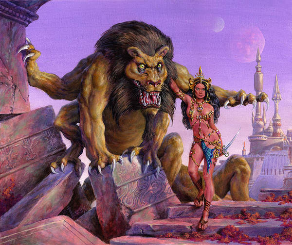 Summoning Wall Art - Painting - Maid Of Mars by Richard Hescox
