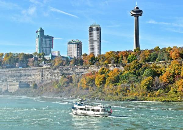 The Maid Photograph - Maid Of The Mist At The Falls by Frozen in Time Fine Art Photography