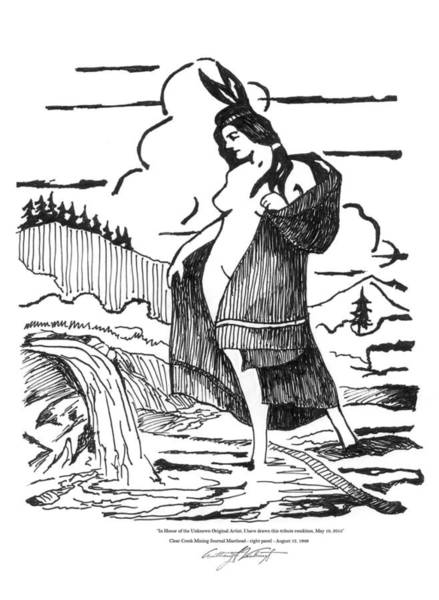 Arapahoe County Wall Art - Drawing - Maiden - Clear Creek Mining Journal by Anthony Verburgt