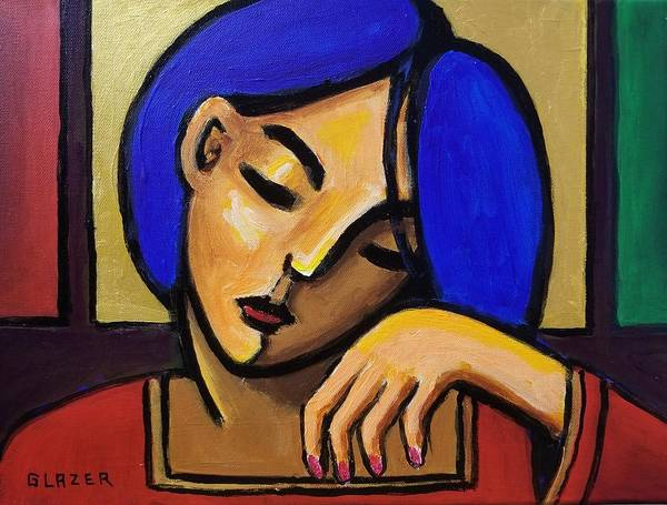 Wall Art - Painting - Maiden In Blue by Stuart Glazer