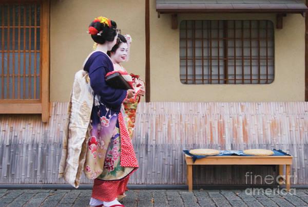 Kansai Region Wall Art - Photograph - Maiko In Kyoto by Ei Katsumata