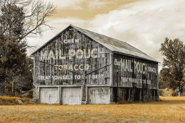 Pouch Wall Art - Photograph - Mail Pouch Barn - Us 30 #3 by Stephen Stookey
